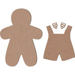 Leaky Shed Studio - Chipboard Shapes - Gingerbread Boy with Jumper