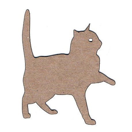 Leaky Shed Studio - Animal Collection - Chipboard Shapes - Cat Pawing