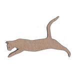 Leaky Shed Studio - Animal Collection - Chipboard Shapes - Cat Leaping