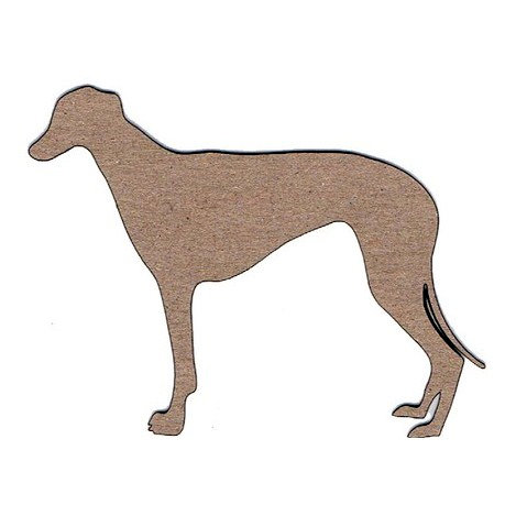 Leaky Shed Studio - Animal Collection - Chipboard Shapes - Grey Hound