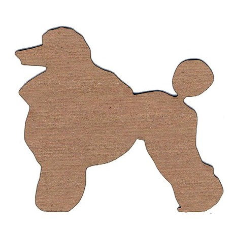 Leaky Shed Studio - Animal Collection - Chipboard Shapes - Poodle 1