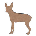 Leaky Shed Studio - Animal Collection - Chipboard Shapes - Chihuahua