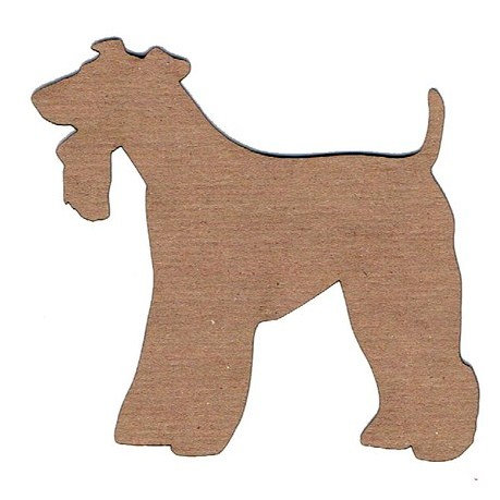 Leaky Shed Studio - Animal Collection - Chipboard Shapes - Wire Fox Terrier