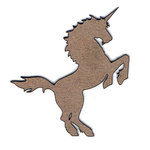 Leaky Shed Studio - Chipboard Shapes - Unicorn Small