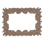 Leaky Shed Studio - Chipboard Shapes - Blowing Leaves Rectangular Frame