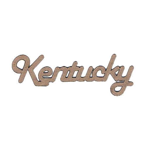 Leaky Shed Studio - Chipboard Words - Kentucky