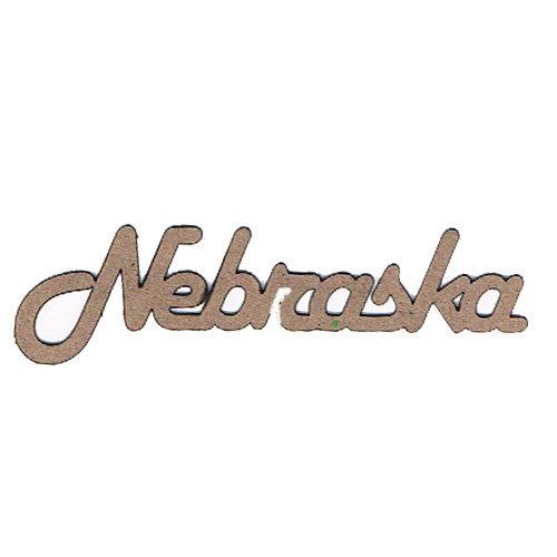 Leaky Shed Studio - Chipboard Words - Nebraska