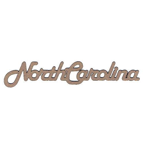 Leaky Shed Studio - Chipboard Words - North Carolina