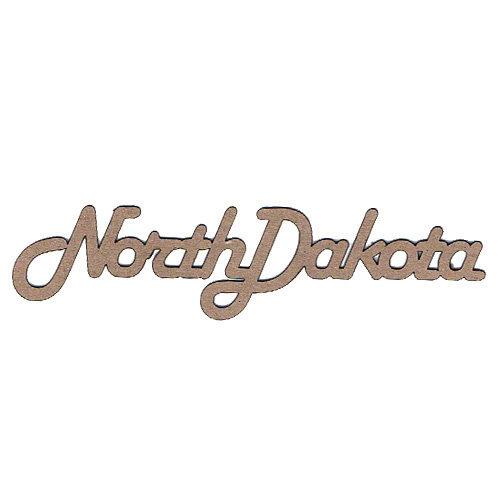 Leaky Shed Studio - Chipboard Words - North Dakota