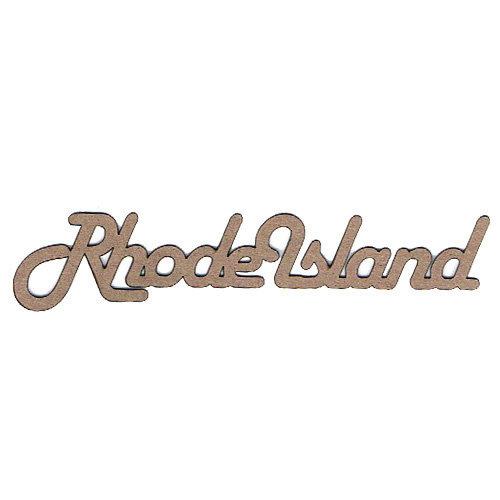 Leaky Shed Studio - Chipboard Words - Rhode Island