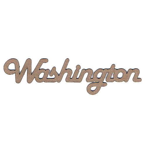 Leaky Shed Studio - Chipboard Words - Washington