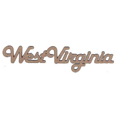 Leaky Shed Studio - Chipboard Words - West Virginia