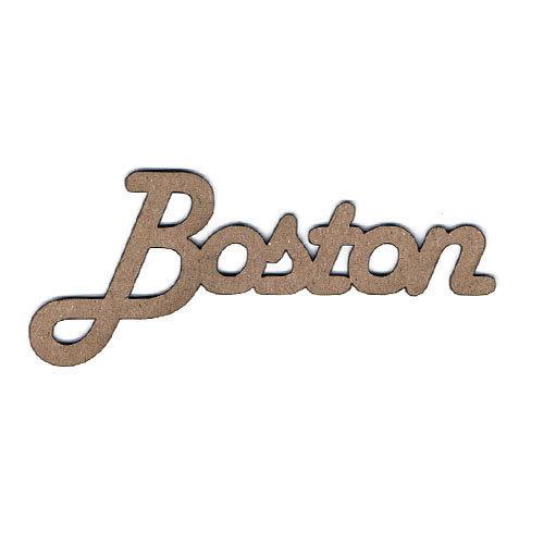 Leaky Shed Studio - Chipboard Words - Boston