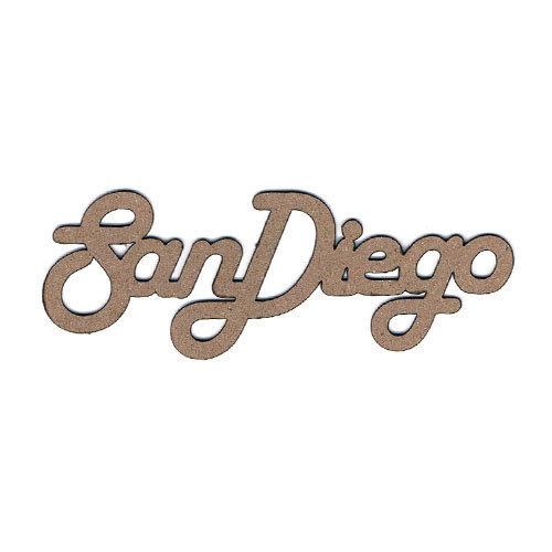 Leaky Shed Studio - Chipboard Words - San Diego