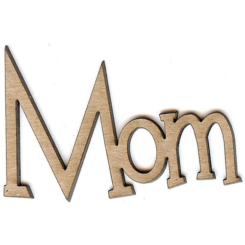Unique Pages - Family Collection - Chipboard Words - Mom