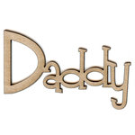 Unique Pages - Family Collection - Chipboard Words - Daddy