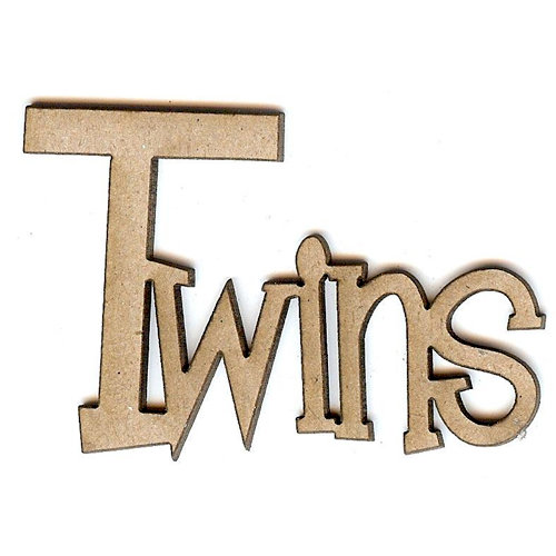 Unique Pages - Family Collection - Chipboard Words - Twins