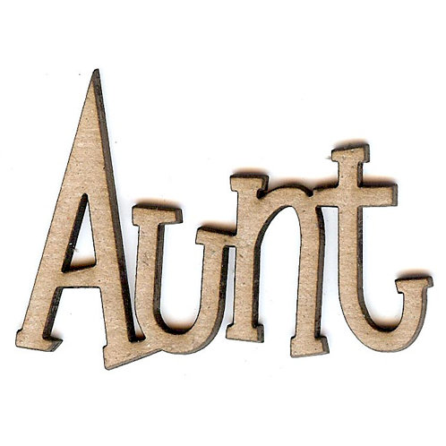 Unique Pages - Family Collection - Chipboard Words - Aunt