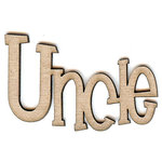 Unique Pages - Family Collection - Chipboard Words - Uncle