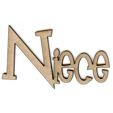 Unique Pages - Family Collection - Chipboard Words - Niece