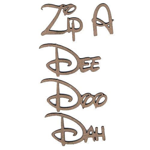 Leaky Shed Studio - Chipboard Words - Zip A Dee Doo Dah