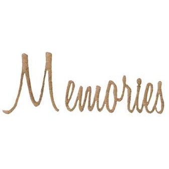 Unique Pages - Chipboard Words - Memories, CLEARANCE