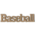 Leaky Shed Studio - Sport Collection - Chipboard Words - Baseball