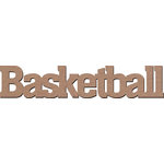 Leaky Shed Studio - Sport Collection - Chipboard Words - Basketball