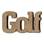 Leaky Shed Studio - Sport Collection - Chipboard Words - Golf