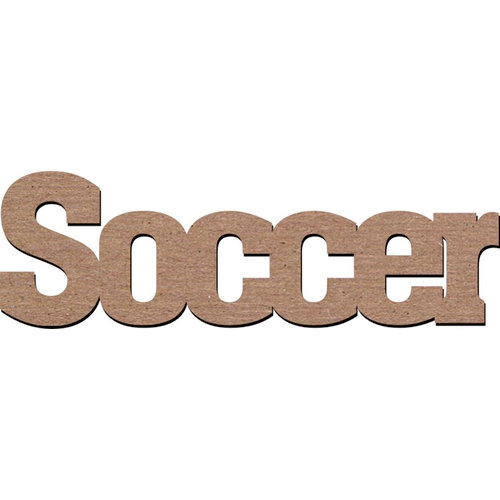 Leaky Shed Studio - Sport Collection - Chipboard Words - Soccer