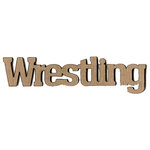 Leaky Shed Studio - Sport Collection - Chipboard Words - Wrestling
