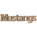 Leaky Shed Studio - Mascot Collection - Chipboard Words - Mustangs