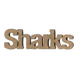 Leaky Shed Studio - Mascot Collection - Chipboard Words - Sharks