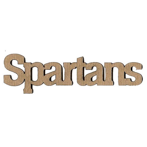 Leaky Shed Studio - Mascot Collection - Chipboard Words - Spartans