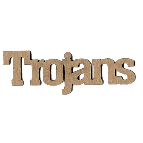 Leaky Shed Studio - Mascot Collection - Chipboard Words - Trojans
