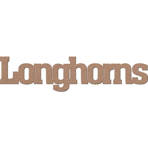 Leaky Shed Studio - Mascot Collection - Chipboard Words - Longhorns