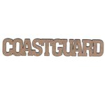 Leaky Shed Studio - Chipboard Words - Coast Guard