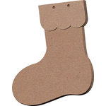 Leaky Shed Studio - Chipboard Banners - Christmas Stocking - Set of Three