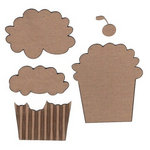 Leaky Shed Studio - Chipboard Shapes - Cupcake