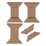 Leaky Shed Studio - Chipboard Shapes - Spools - Set of Three