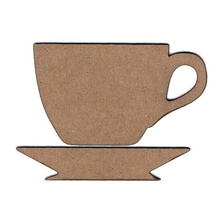 Leaky Shed Studio - Chipboard Shapes - Teacup