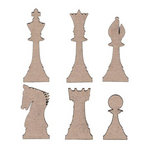 Leaky Shed Studio - Chipboard Shapes - Chess Pieces