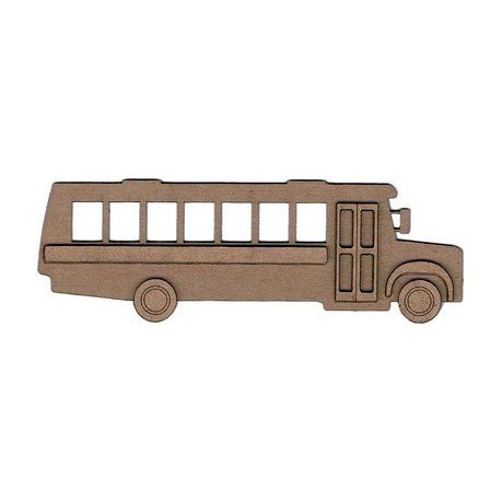 Leaky Shed Studio - Chipboard Shapes - School Bus