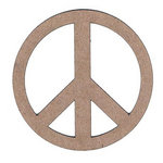 Leaky Shed Studio - Chipboard Shapes - Peace Sign