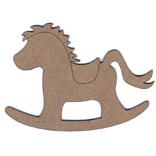Leaky Shed Studio - Chipboard Shapes - Rocking Horse