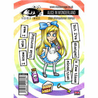 Visible Image - Alice in Wonderland Collection - Clear Acrylic Stamps - Alice in Wonderland