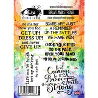Visible Image - Clear Photopolymer Stamps - Brave and Strong