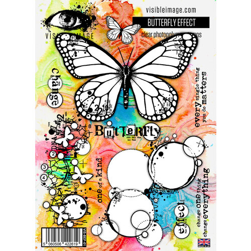 Visible Image - Clear Photopolymer Stamps - Butterfly Effect
