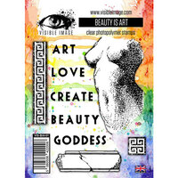 Visible Image - Clear Photopolymer Stamps - Beauty Is Art