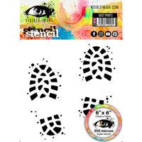Visible Image - 6 x 6 Stencil - Boot Prints
